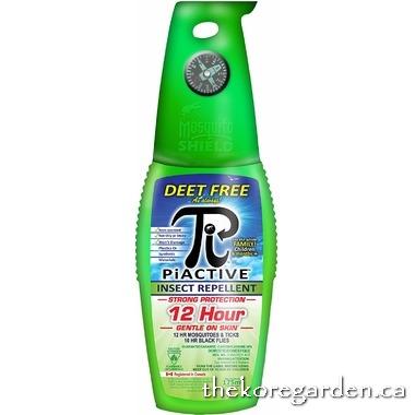 Piactive (Original 100% DEET FREE) Insect Repellent 175ml Pump